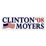 Clinton-Moyers 2008 Bumper Sticker