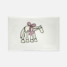 Pink Bow Rectangle Magnet