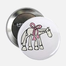 """Pink Bow 2.25"""" Button"""
