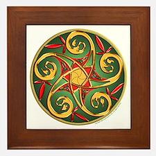 Celtic Pentacle Spiral Framed Tile