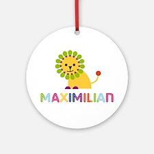 Maximilian Loves Lions Ornament (Round)