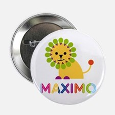 """Maximo Loves Lions 2.25"""" Button"""
