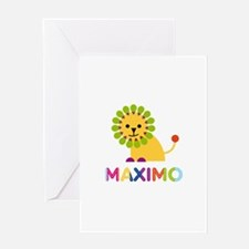 Maximo Loves Lions Greeting Card