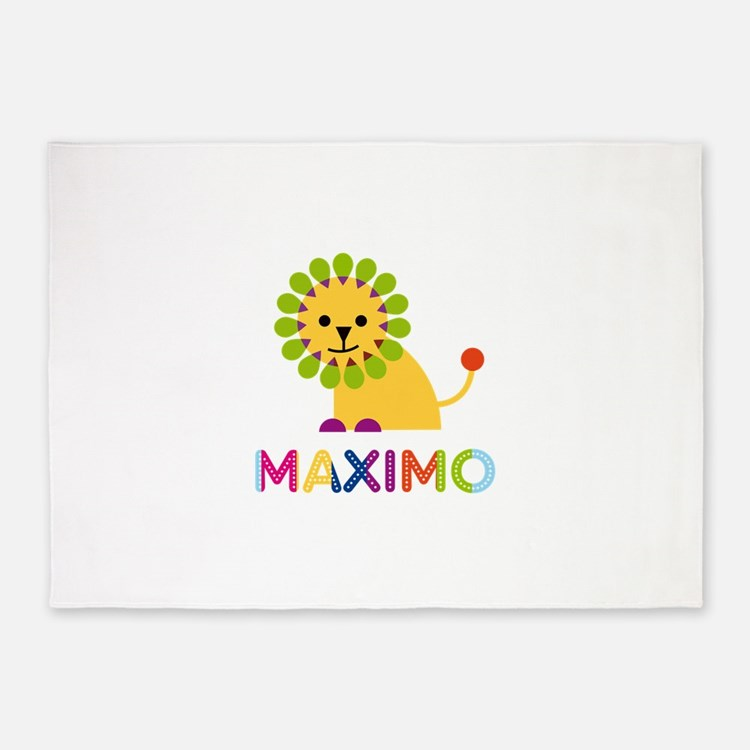 Maximo Loves Lions 5'x7'Area Rug