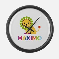 Maximo Loves Lions Large Wall Clock