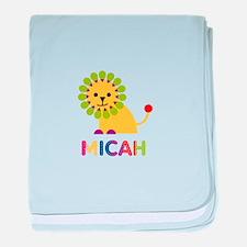 Micah Loves Lions baby blanket