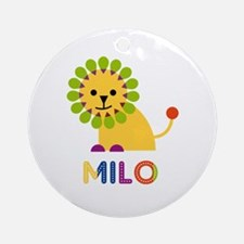 Milo Loves Lions Ornament (Round)