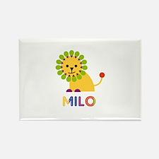 Milo Loves Lions Rectangle Magnet