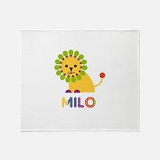 Milo Loves Lions Throw Blanket