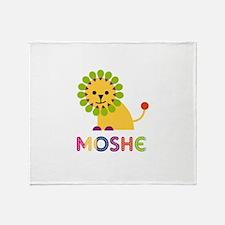 Moshe Loves Lions Throw Blanket