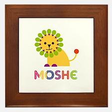 Moshe Loves Lions Framed Tile