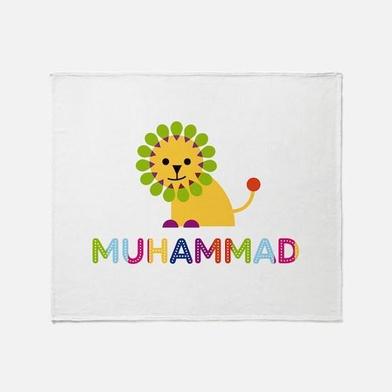Muhammad Loves Lions Throw Blanket
