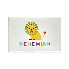 Nehemiah Loves Lions Rectangle Magnet