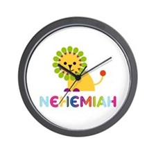 Nehemiah Loves Lions Wall Clock