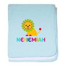 Nehemiah Loves Lions baby blanket