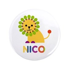 """Nico Loves Lions 3.5"""" Button (100 pack)"""