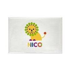 Nico Loves Lions Rectangle Magnet (100 pack)