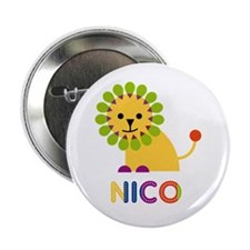 "Nico Loves Lions 2.25"" Button"