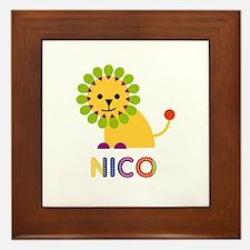 Nico Loves Lions Framed Tile