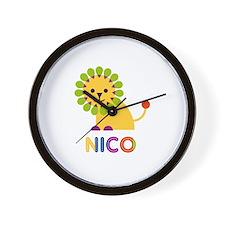 Nico Loves Lions Wall Clock