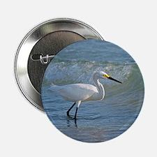"""Snowy egret 2.25"""" Button"""