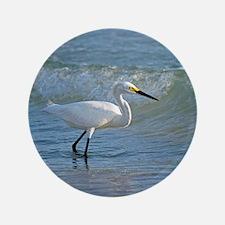 """Snowy egret 3.5"""" Button"""