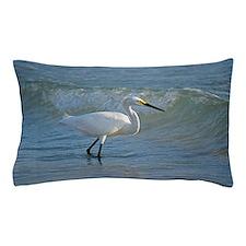 Snowy egret Pillow Case