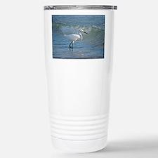 Snowy egret Travel Mug