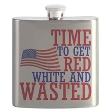 RED WHITE AND WASTED Flask