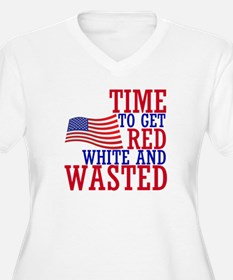 RED WHITE AND WASTED Plus Size T-Shirt