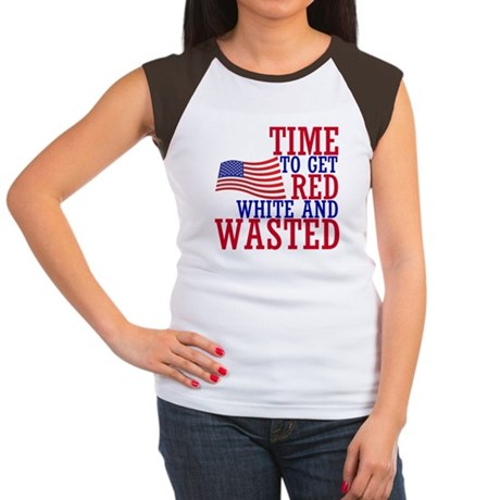 RED WHITE AND WASTED T-Shirt