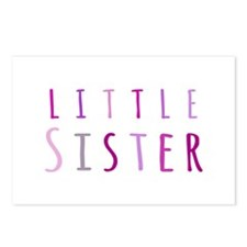 Little sister in pink Postcards (Package of 8)