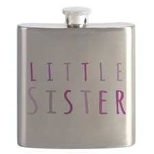 Little sister in pink Flask
