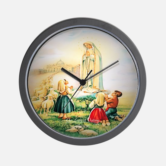 Our Lady of Fatima 1917 Wall Clock