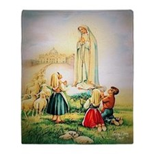 Our Lady of Fatima 1917 Throw Blanket