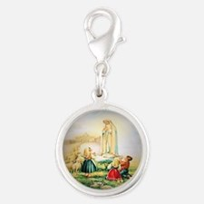 Our Lady of Fatima 1917 Silver Round Charm