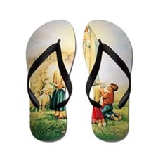 Our Lady of Fatima 1917 Flip Flops