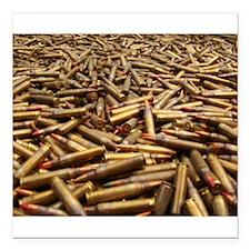 "bullets Square Car Magnet 3"" x 3"""