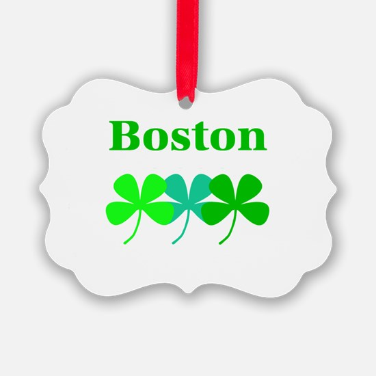 Boston Clover Green Hues Designer Ornament