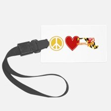 Peace Love Maryland Luggage Tag