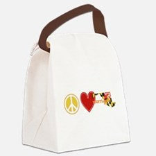 Peace Love Maryland Canvas Lunch Bag
