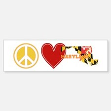 Peace Love Maryland Bumper Bumper Sticker