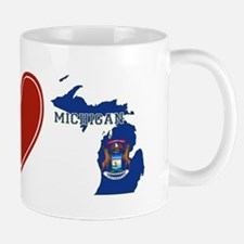 Peace Love Michigan Mug