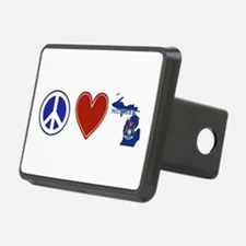 Peace Love Michigan Hitch Cover