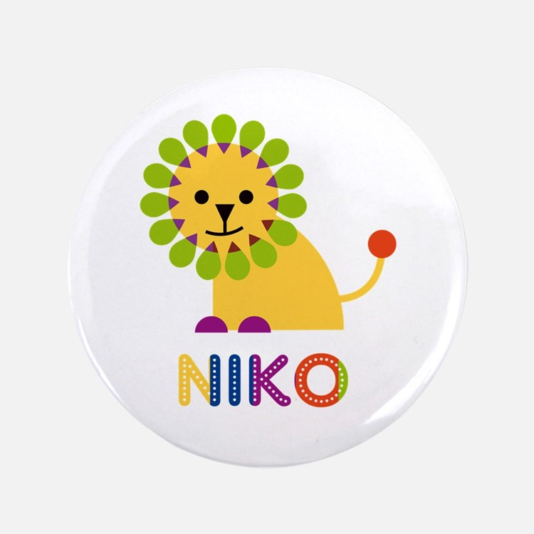 "Niko Loves Lions 3.5"" Button"