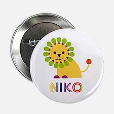 "Niko Loves Lions 2.25"" Button"