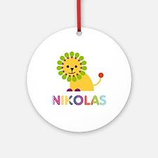 Nikolas Loves Lions Ornament (Round)
