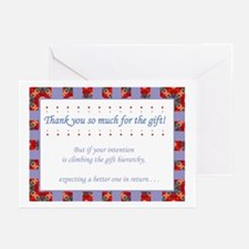 Hilarious Thank-you Greeting Card (pack of 6)
