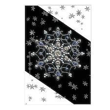 Winter Solstice Snowflake Postcards (Package of 8)