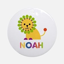 Noah Loves Lions Ornament (Round)